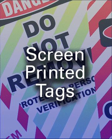 Tags Screen Printed